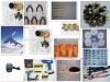 hair extension tools:micro ring,plier, glue remover, glue gun, hair iron ,remover, protector