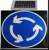 new China made circle solar LED traffic sign
