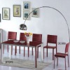 high quality modern design glass dining set