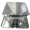 stainless steel chrome plated gas table barbecue grill