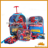 spider-man series kids school bag set