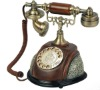 Global Hot Resin rotary dial classical telephone for antique home decor