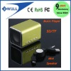Micro SD/TF Music Player Green Mini Speaker for Laptop,iPhone,iPod