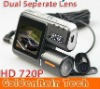 "Separate camera Car DVR , Car Recorder Video I1000 with HD 720P + G-Sensor + MOV + 2.0"" LCD + AV-IN +Dropshipping!"