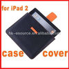 Black Orange Leather Cover Case Bag for iPad 2