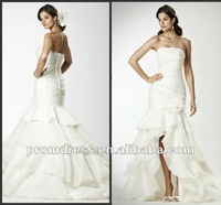 Newest Fashion WD-581 Short Front Long Back Wedding Dress 2013