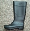 men's PVC all black rainboots