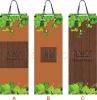 Reusable paper wine bottle bag