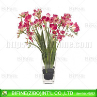 best selling glass flower vase for wedding decoration
