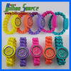 waterproof colours silicone wrist watch interlock strap