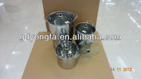 5pcs stainless steel dinner bucket ,stainless steel industrial soup pot