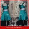 RD73 Real made sample short elegant two strap bridesmaid dress