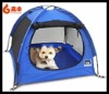 2012 new style big blue soft dog house/ foldable pet tent house