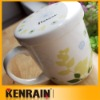 ceramic mug with lid/bone china mug /Porcelain mug with lid /ceramic mug with cover
