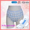 LADIES non woven PRINTED PANTIES WiTH PAD