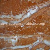 Rosa Tea red marble top dining talbe