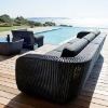 Wicker chaise lounge sectional sofa funiture - garden sectional rattan sofa