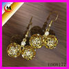 HOLLOW EARRING GOLD DESIGN FOR GIRLS,GOLD EARRING NEW MODEL 2013