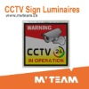 LCD Display CCTV Warning Sign Powered By Solar Cell