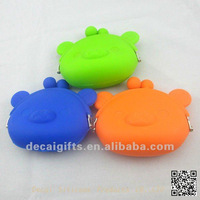Promotional gift Charming Piggy Silicone wallet/purse