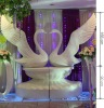 fiberglass swan model for wedding decoration