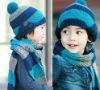 FASHION BOY CAPS SCARF SET Dobby Knitted New Design Korean Style