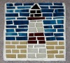 lighthouse mosaic glass coaster