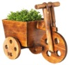 Bicycle wooden planter pot