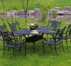 garden outdoor cast aluminum table and chair