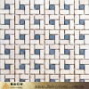 white & blue colored marble mosaic tile