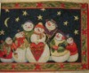 Christmas snowman tapestry placemat