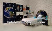 MDF UV high gloss children's Bed set