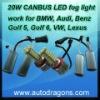 ADT 20W H8 LED fog light for BMW AUDI VW Golf 6