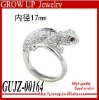 Wholesale latest crystal fashion cute animal ring