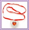 flashing heart necklace for promotion gift