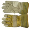 working gloves, stripe leather glove, cowhide leather glove