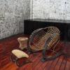 DEMNI Generous cane bistro chair