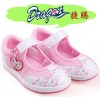 2012 kids casual shining PU mesh upper dress shoes
