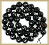 KJL-AG2556 Wholesale Agate! Faceted Black Agate Round Beads