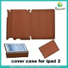 360 rotating customized leather smart cover case for ipad 2