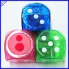 4x4cm big size dice shape plastic pencil sharpener