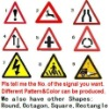 Triangle traffic safety signage