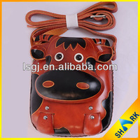 2013 Featured animal design leather coin purse on hot sale