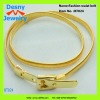 High grade fashion 14K gold plated tone buckle waist belts design for women female models