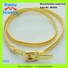 High grade fashion 14K gold plated tone buckle waist belts design for women female models