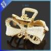 Golden rice pearl bowknot hair clip