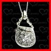 hot sale silver handbag pendants perfect gift wholesale