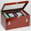 Wine Box with Poker Game Accessories for Sale