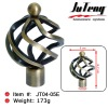 metal curtain rod finial