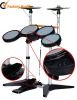 4 IN 1 Wired/Wireless drum controller for PS2/PS3/WII, with double cymbals